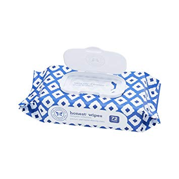 The Honest Company Designer Baby Wipes, Blue Ikat, 72 Count