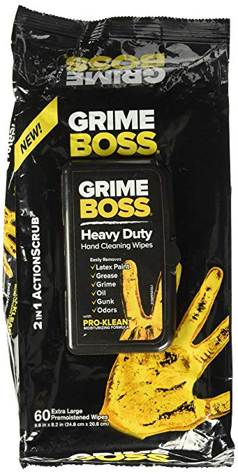 Grime Boss Heavy Duty Hand Cleaning Wipes 1 pack- 60 wipes