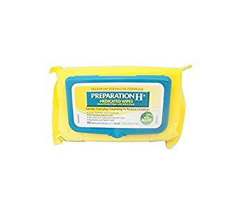 Preparation H (48 Count) Flushable Medicated Hemorrhoid Wipes, Maximum Strength Relief with Witch...