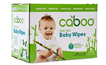 Caboo Tree Free Bamboo Baby Wipes, Eco Friendly Hypoallergenic Baby Wipes for Sensitive Skin, 12...