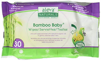 Aleva Naturals Bamboo Baby Travel Wipes - 30ct