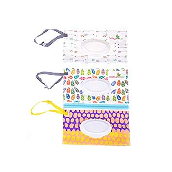 Yiphates 1Pcs Wet Wipe Pouch, Travel Wipes Case Reusable Refillable Wet Wipe Bag Travel Wipes Dispenser...
