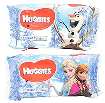 Huggies Special Edition Disney Frozen Baby Wipes Soft Refill 56 Count (3 Pack, 168 Count)