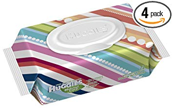 Huggies Natural Care Fragrance Free Baby Wipes Soft pack, 72-Count (Pack of 4)