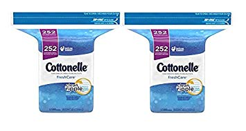 COTTONELLE FRESHCARE FLUSHABLE CLEANSING CLOTHS REFILL BAG, 252 Count, Pack of 2