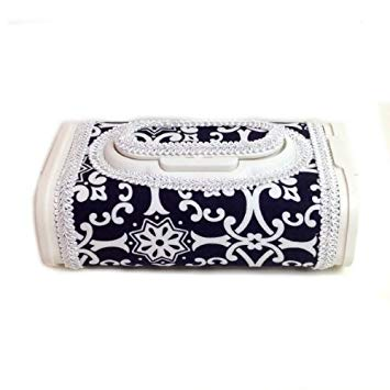 Black and white unisex elipse baby wipes box