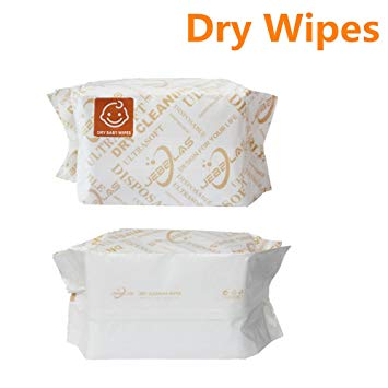 Jebblas Baby Dry Wipes Ultra-Soft Cleaning Cloth Unscented Paper Towels Super Gentle and Absorbent for...