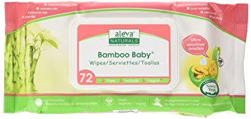 Aleva Naturals Bamboo Baby Wipes, Sensitive, 6 Count, 14.1 Ounce