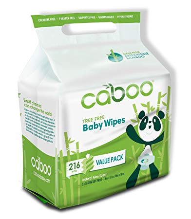 Caboo Tree-Free Bamboo Baby Wipes, Eco Friendly Hypoallergenic Baby Wipes for Sensitive Skin, 3...